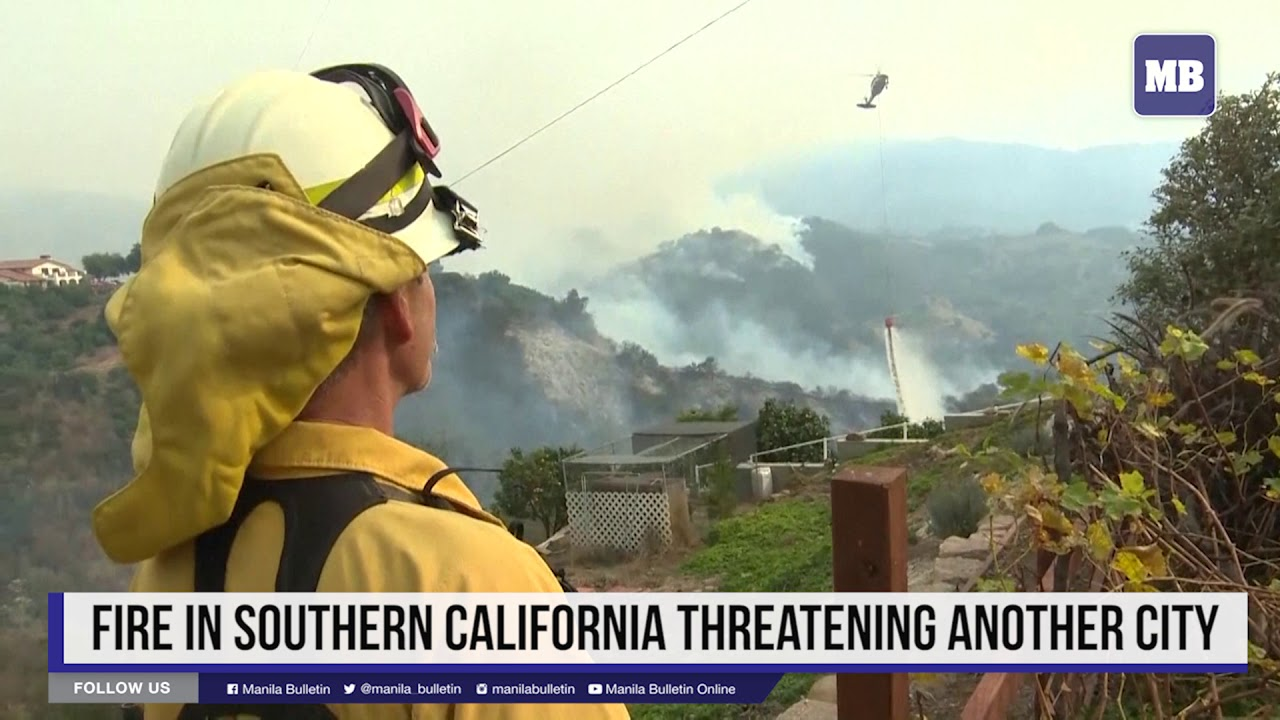 Fire in southern California threatening another city