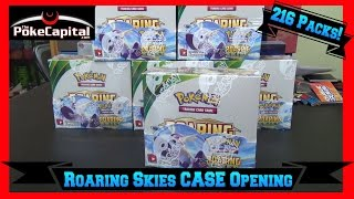 Opening Pokemon Cards Roaring Skies Booster Box Case