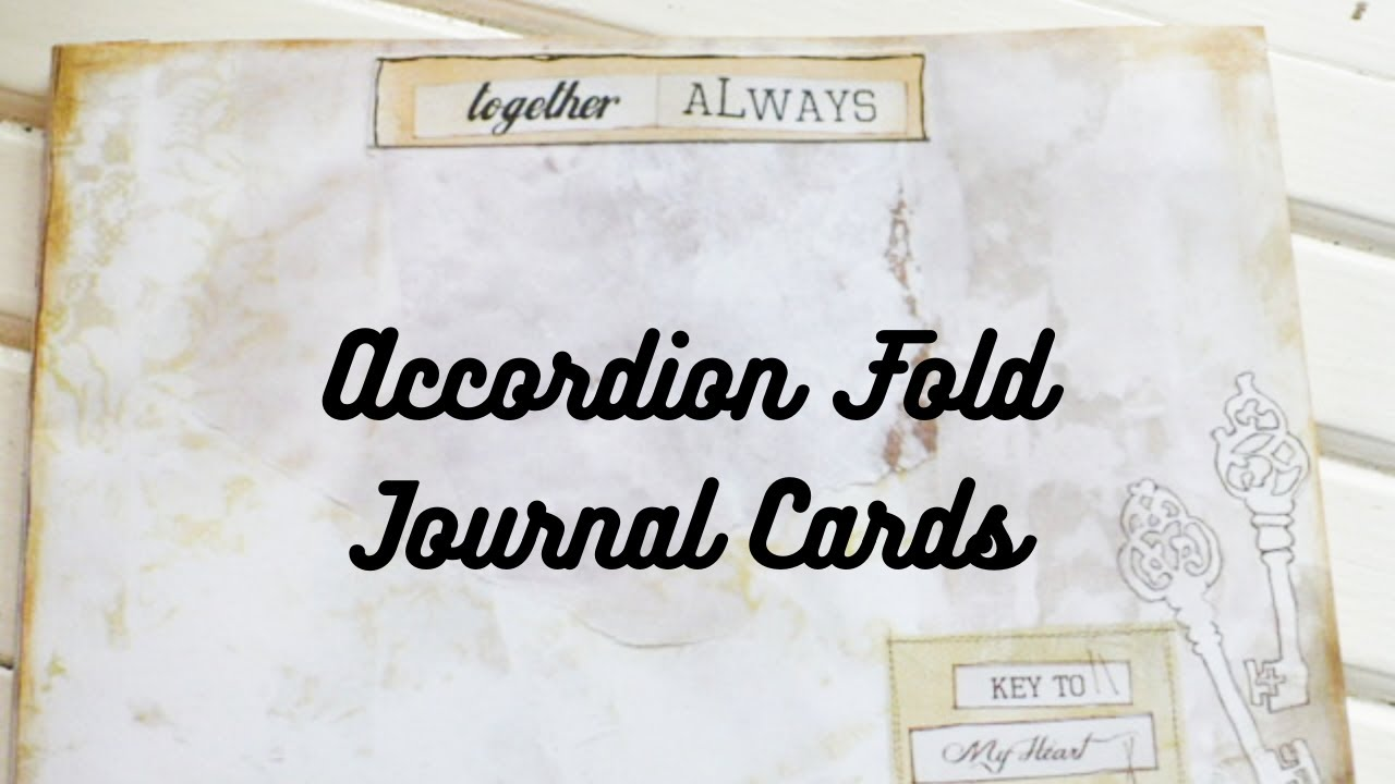 Accordion Page Altered Recipe Card Tutorial - Creative Way To Make a Journal Card or Happy Mail Gift