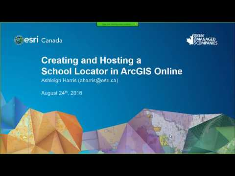 Creating and Hosting a School Locator in ArcGIS Online