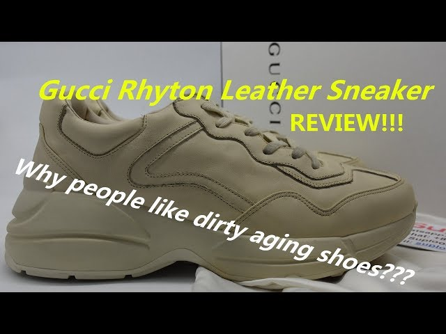 88c0f58e2ad Gucci Rhyton Vintage Trainer Sneaker Cream Review from Suplook - YouTube