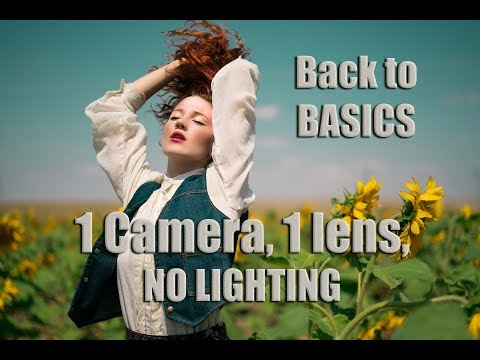 BACK TO BASICS- 1 CAMERA, 1 LENS, NO LIGHTING, NO DIFFUSERS- Natural Light Only Sunflower Field