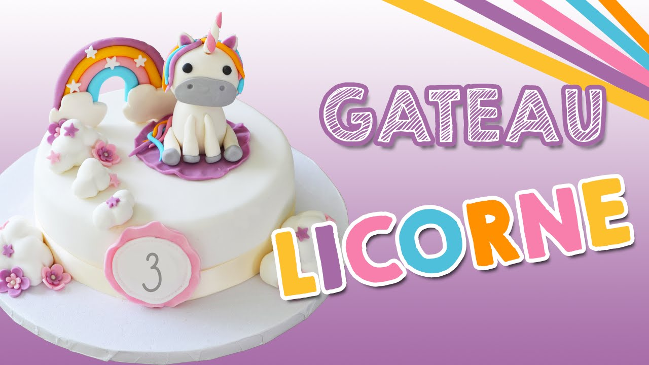 Gateau Licorne Unicorn Cake Youtube