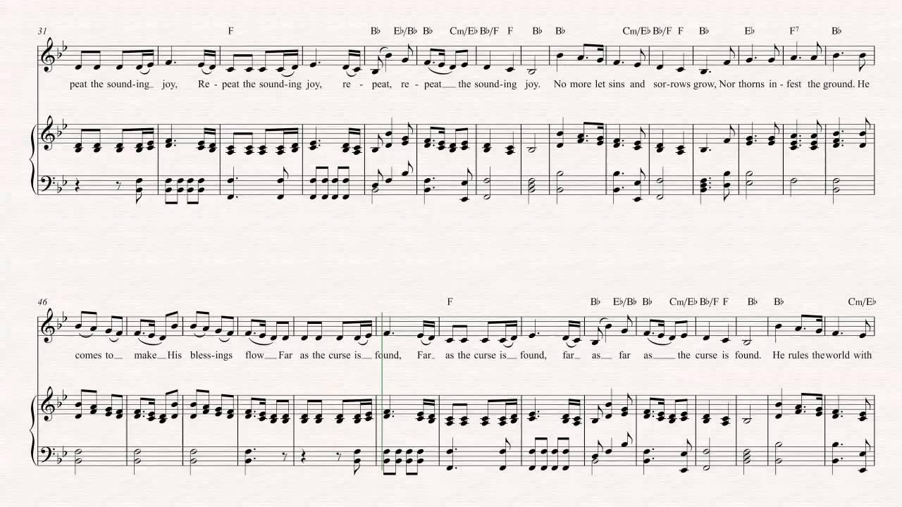 Christmas Music Chords.Alto Sax Joy To The World Christmas Sheet Music Chords Vocals