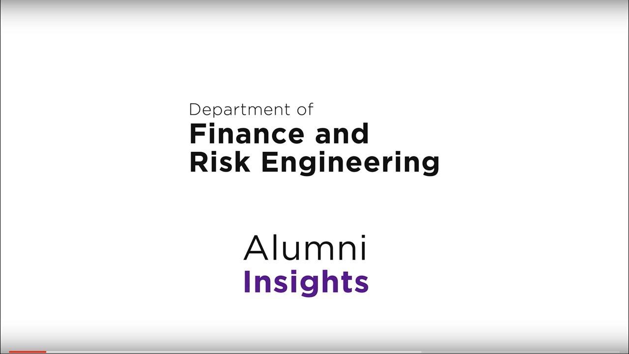 Financial Engineering, M S  | NYU Tandon School of Engineering