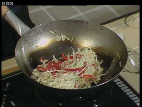 Stir fry rice noodles with vegetables ken homs chinese cookery stir fry rice noodles with vegetables ken homs chinese cookery bbc youtube forumfinder Image collections