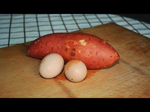红薯里加2个鸡蛋,教你个新做法,简单美味又营养