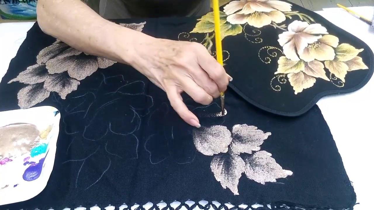 Pintando sobre tela negra como dar base youtube - Como pintar sobre tela ...