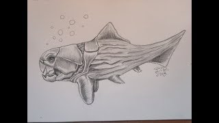 How to Draw Big Daddy (Dunkleosteus!)  - Tutorial || Hungry Shark Evolution