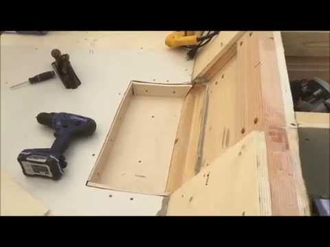 Building the duck barge - drain plug and sump install 19