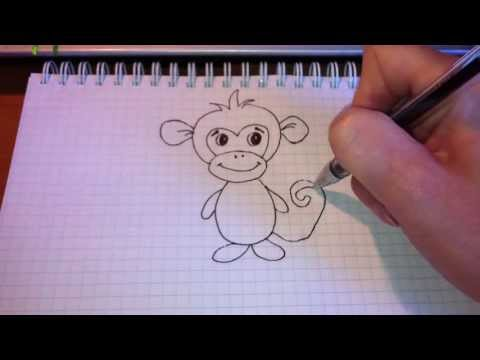 Как нарисовать обезьяна