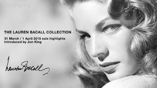 Highlights from The Lauren Bacall Collection