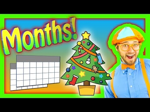 Nursery Rhymes  Months of the Year Song