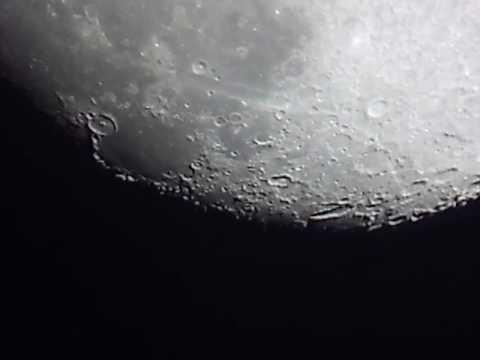 Moon, Jupiter, Saturn And Mars through My 8 Inch Telescope Live View