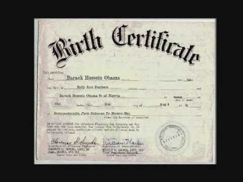 Obama'S Birth Certificate. The Real One. Not A Fake. - Youtube