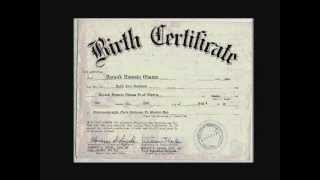 Obama's Birth Certificate. The Real One. Not A Fake. Thumbnail