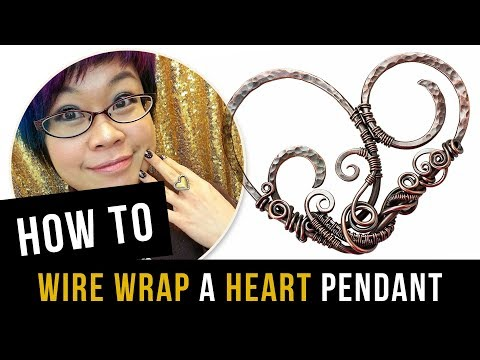 How to Wire Wrap A Heart Pendant