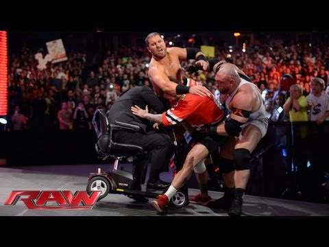 Ryback and Curtis Axel attack CM Punk: Raw, Sept. 23, 2013