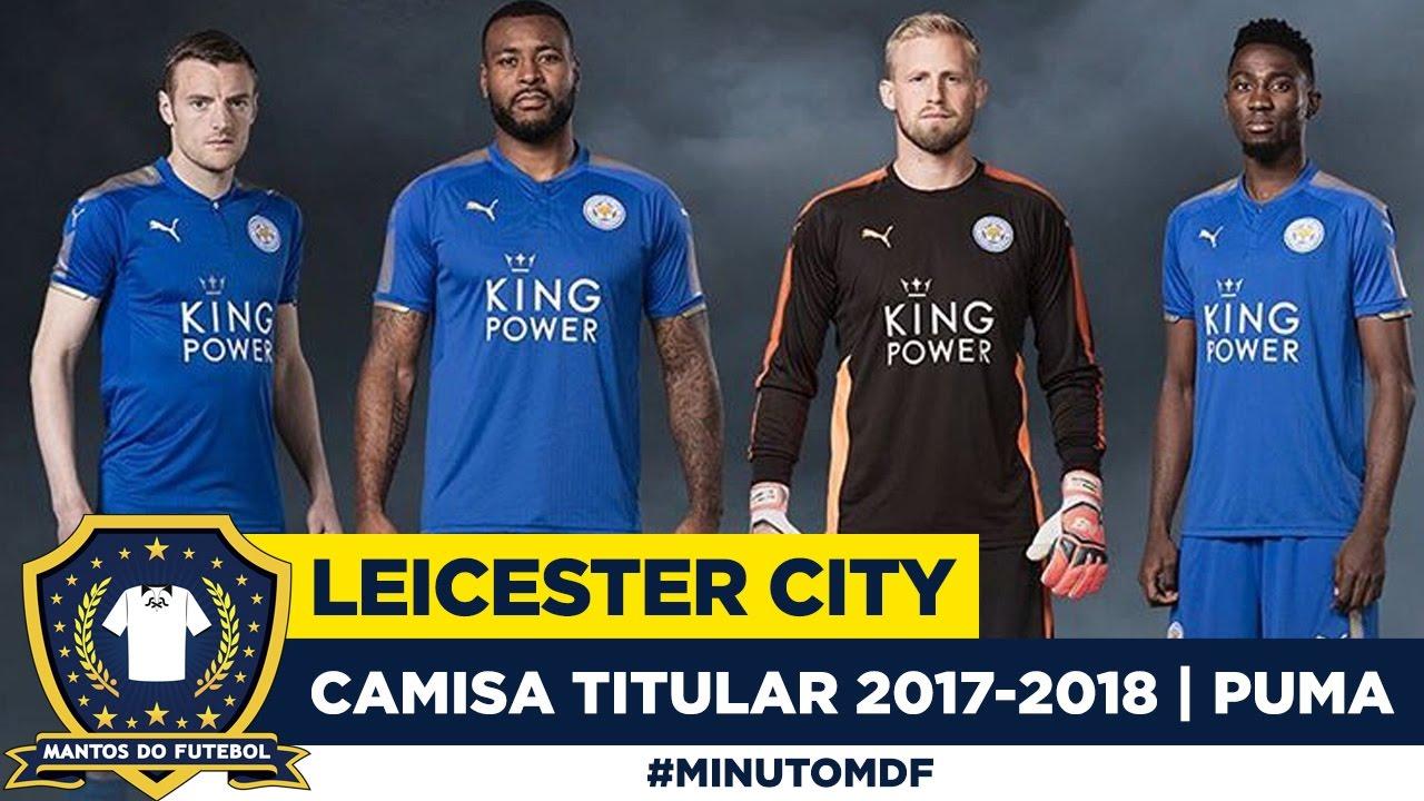 🦊 Camisa do Leicester City 2017-2018 Puma - YouTube 723a56c1d6c2d