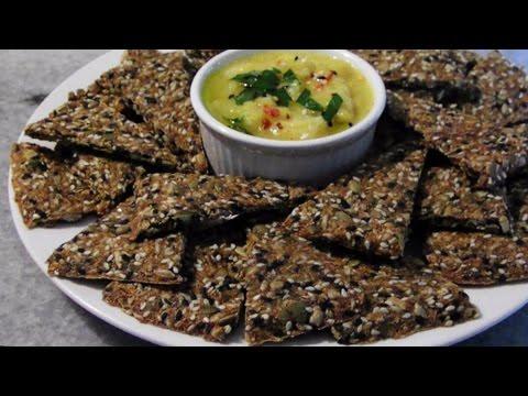 Crispy Flax & Seed Crackers
