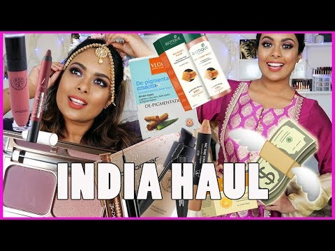 WHAT I BOUGHT IN INDIA - INDIAN MAKEUP, JEWELRY, CLOTHES!