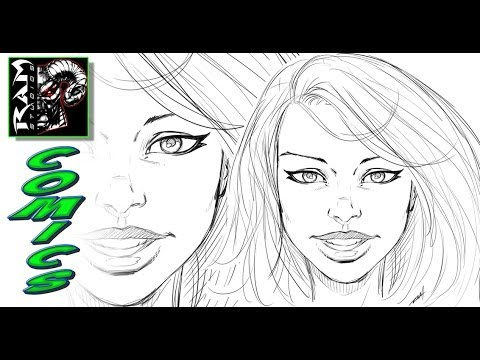 How to Draw - Comics Style - Female Faces - Narrated