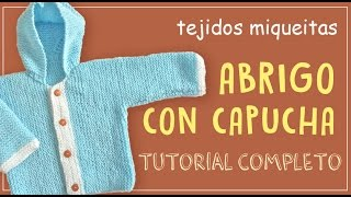 Repeat youtube video Abrigo para bebé con capucha (tutorial completo)