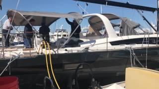 Sail Installation on the New 2017 Jeanneau 64 Yacht By: Ian Van Tuyl