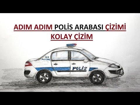 Polis Arabasi Cizimi Adim Adim Cizim Kolay Polis Arabasi