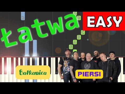 🎹 Bałkanica (Piersi) - Piano Tutorial (łatwa wersja) 🎹
