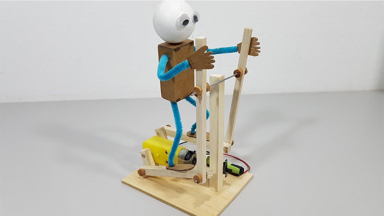Como Hacer un ROBOT Casero que Hace EJERCICIOS