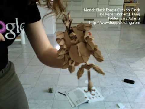 Time Lapse Of An Origami Fold Black Forest Cuckoo Clock Robert Lang