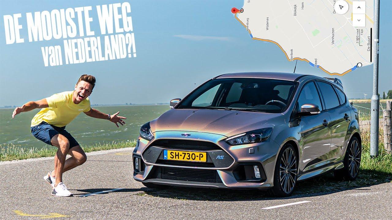 De MOOISTE DIJKWEG van NEDERLAND met de Focus RS