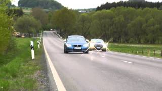 3.0 Z4 vs. 125i vs. M135i / Burnout