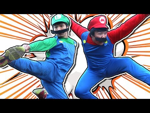 Thumbnail: SUPER HOBO BROS || 100K SUB SPECIAL (A Mario In Real Life Action Comedy)