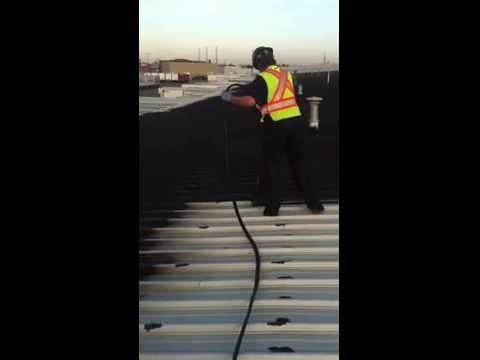 Metal Roof Coating, Spray Roof, Liquid Rubber, Industrial, General Roofing Systems Canada (GRS)