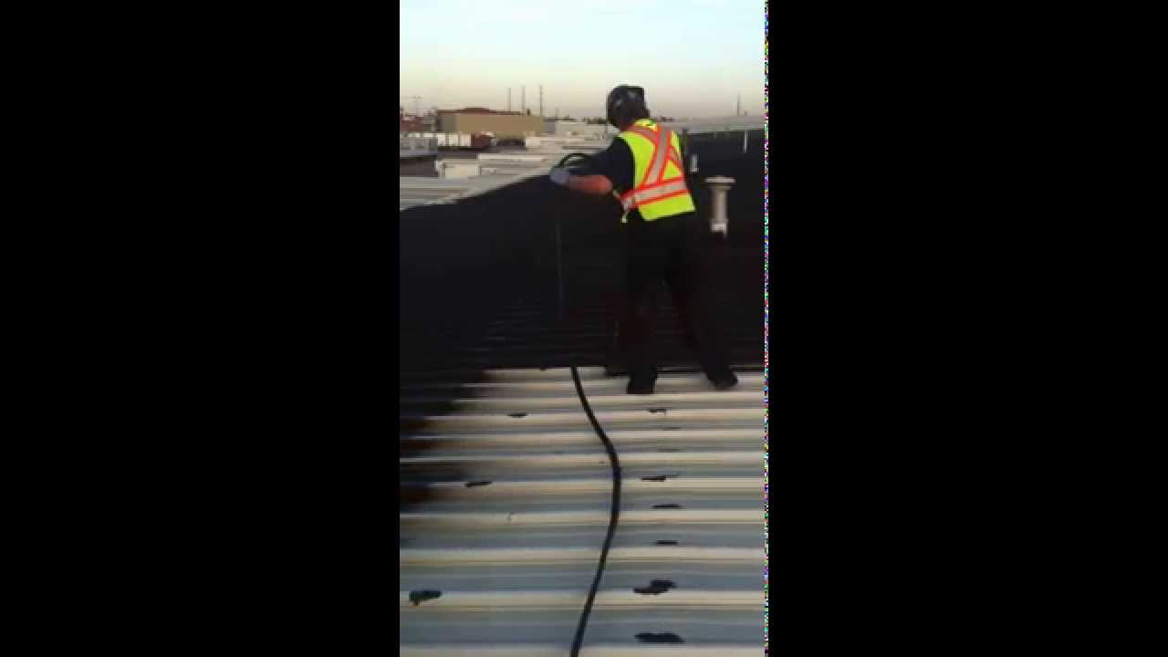 Metal Roof Coating, Spray Roof, Liquid Rubber, Industrial, General Roofing  Systems Canada (GRS)   YouTube