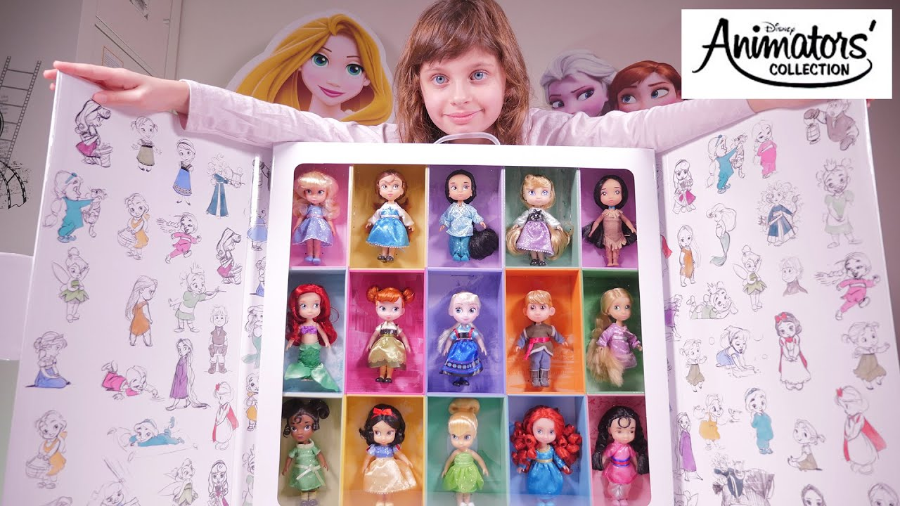 jouet coffret poup es disney animator 39 s miniatures unboxing disney animator 39 s dolls youtube. Black Bedroom Furniture Sets. Home Design Ideas