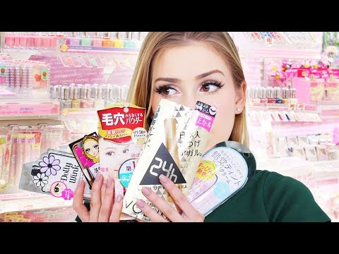Full Face Japanese Drugstore Makeup!! + shopping in Japan! thumbnail