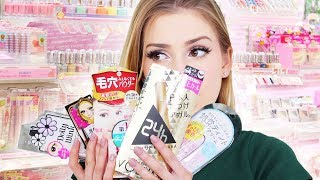 Full Face Japanese Drugstore Makeup!! + shopping in Japan!
