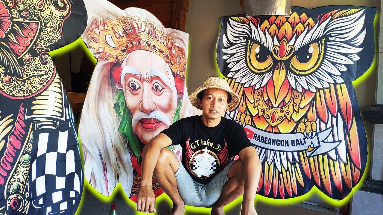 Tungkub 4 layang-layang celepuk print | Rareangon Bali