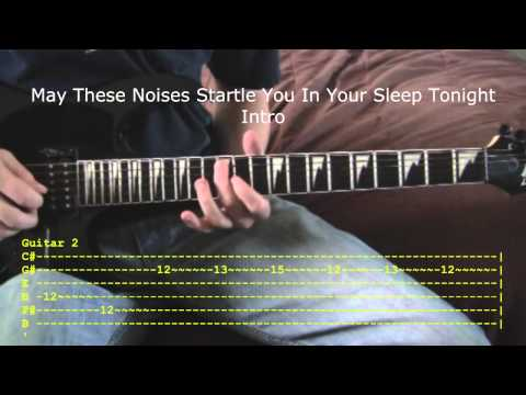 Hell Above and May These Noises Startle You In Your Sleep Tonight by Pierce The Veil Guitar Tutorial