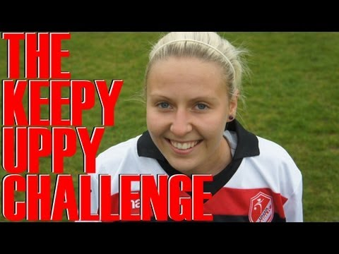 Lincoln Ladies midfielder Sophie Barker KeepyUppy Challenge | FATV #KeepyUppy