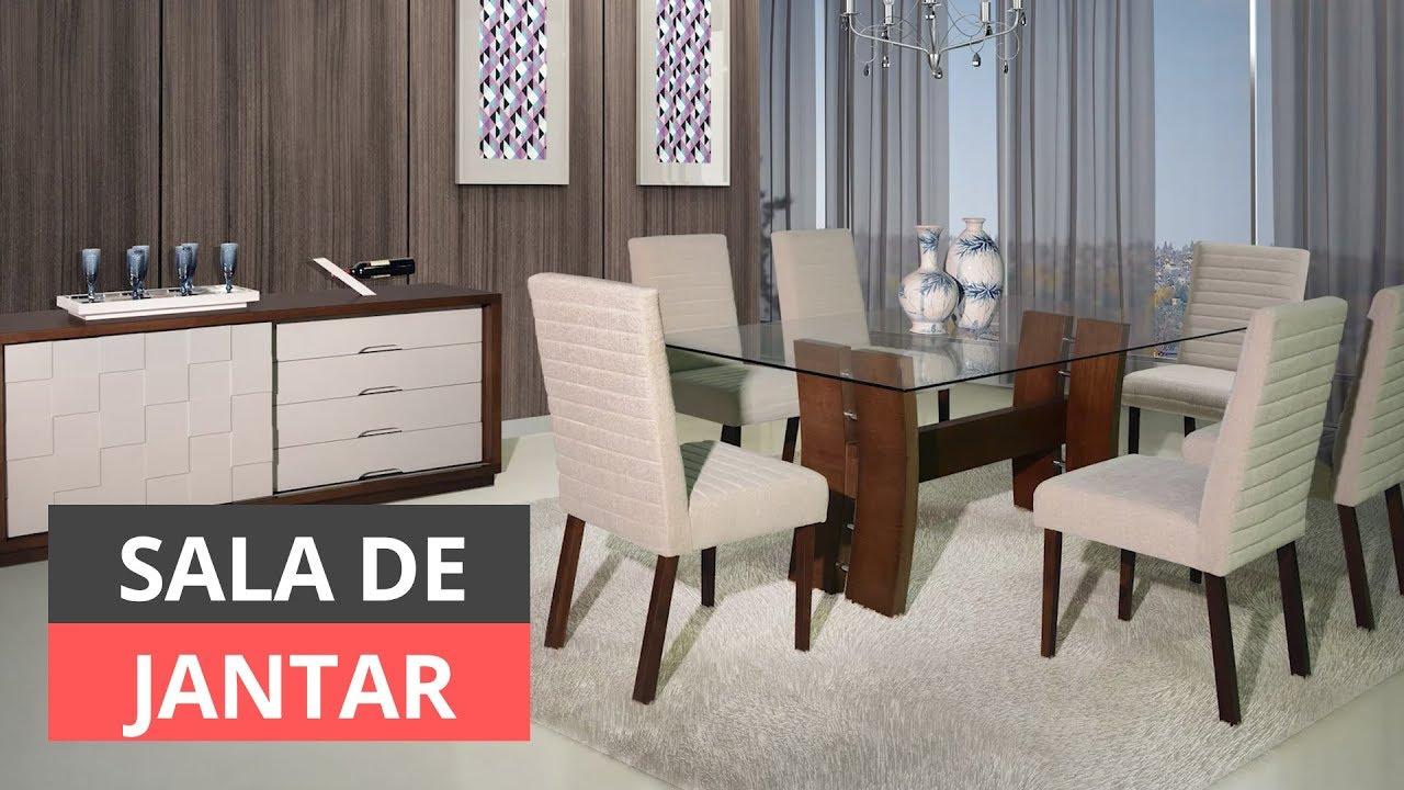 COMO DECORAR SALA DE JANTAR DICAS PARA INSPIRAR YouTube -> Decoração De Sala De Jantar Simples