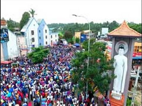 Drone footage of Joint Opposition Pada Yatra