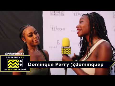 Dominque Perry dishes on her dating life at the Ellae Lisque fashion