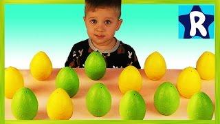 ★ Яйца Сюрприз Выращиваем Игрушки в Воде DINOSAURS Surprise Eggs Making toy animals grow