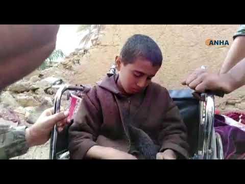 العثور على طفل إيزيدي بين الذين خرجوا من الباغوز اليوم