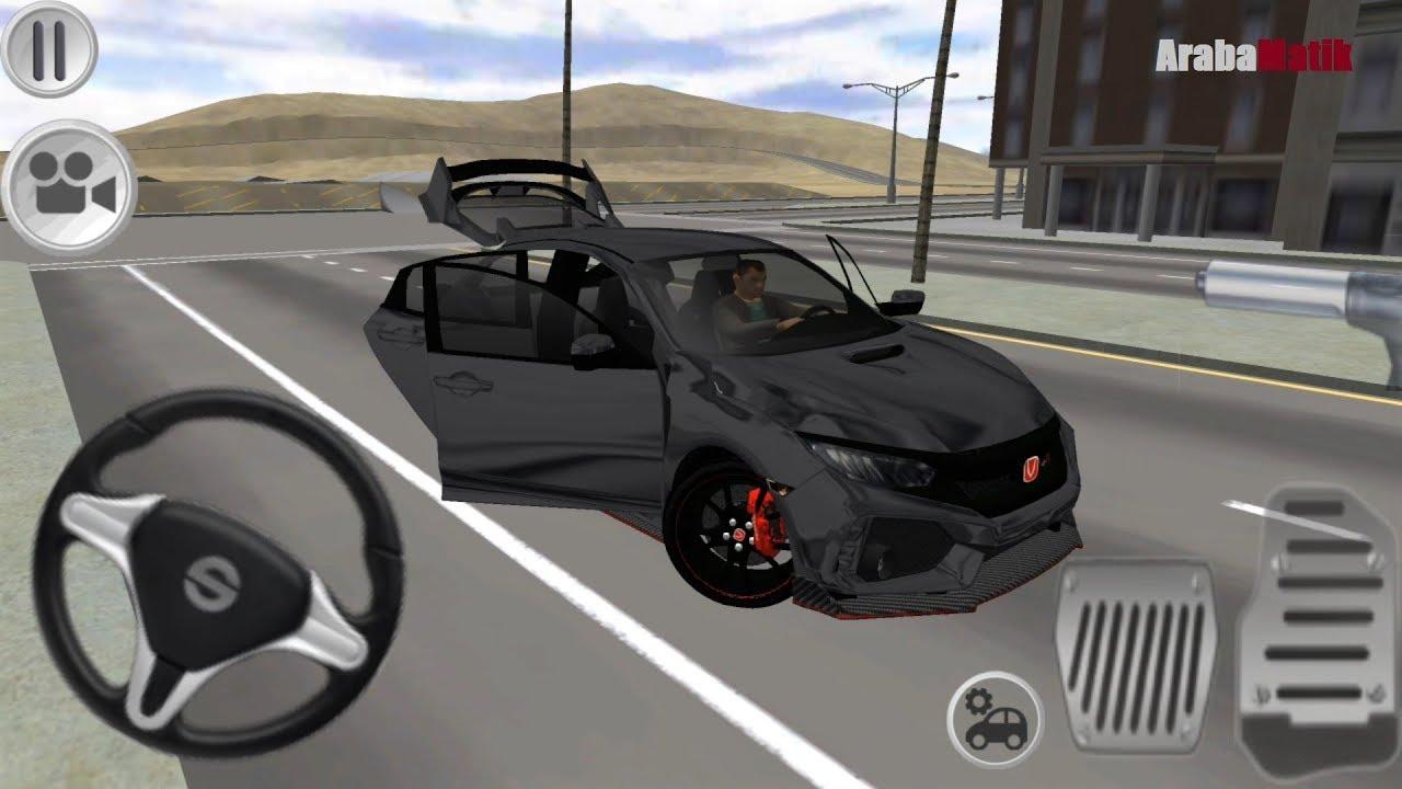 Honda Civic Typer Surus Simulatoru Oyunu Typer Driving