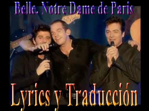 BELLE Notre Dame De Paris   LYRICS   SUBTITULADA ESPAÑOL